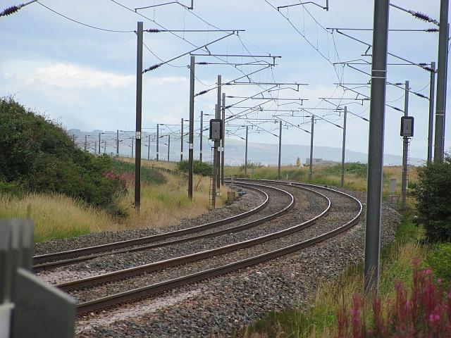 East Coast Main Line passing Cheswick