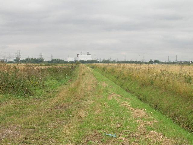 Farm track off the A18