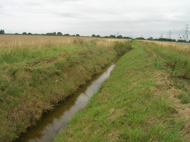 Drainage ditch towards Three Rivers
