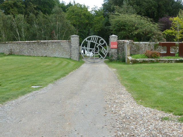 Entrance to Sculpture Park at Goodwood