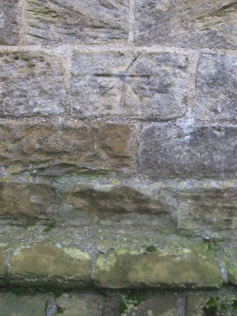 1GL bench mark and bolt on St Mary's, Whitby