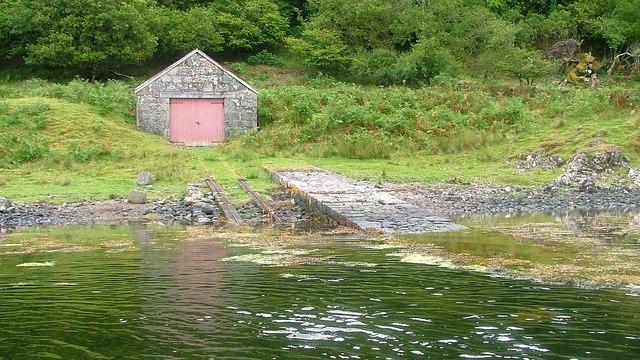 Boathouse near Auchnacloich