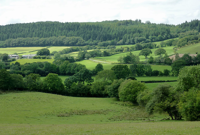 Farmland near Olmarch, Ceredigion
