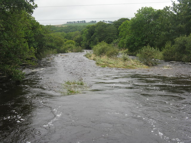 The Whiteadder Water after August rain