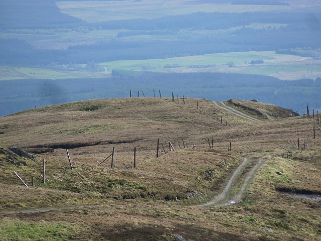 Road up Stob an Lochain