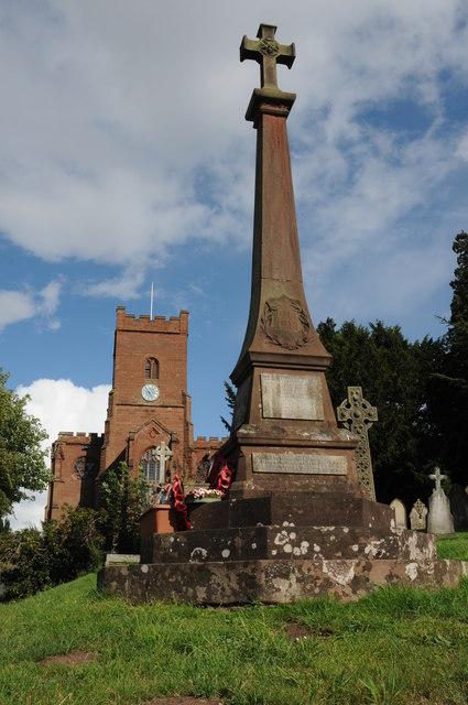 Hartlebury War Memorial and Church