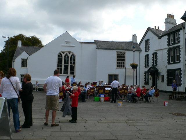 Beaumaris Brass Band at Castle Square, Beaumaris