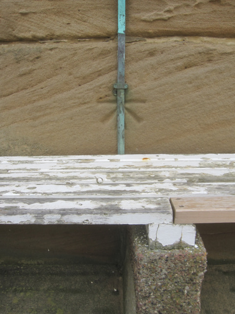 1GL Bench mark and bolt on the West Pier lighthouse - 2