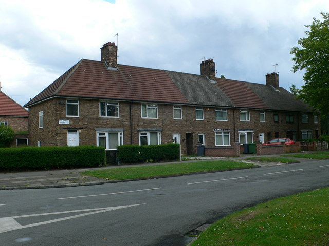 Terraced housing in All Saints Road, Speke