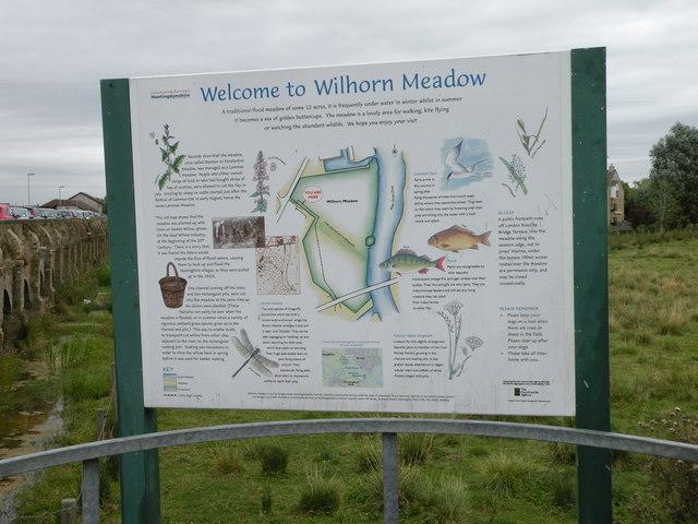 Wilhorn Meadow information board