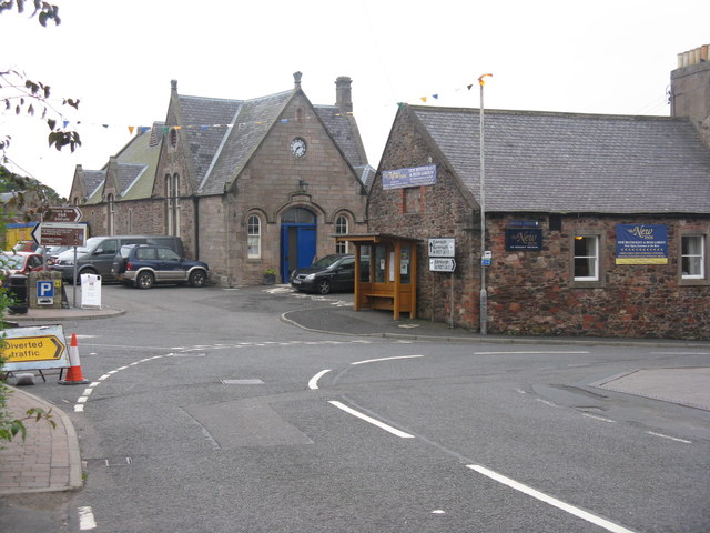 Bend in the road at Coldingham