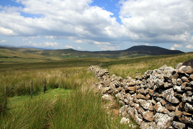 Dry stone wall near Arenig Fawr