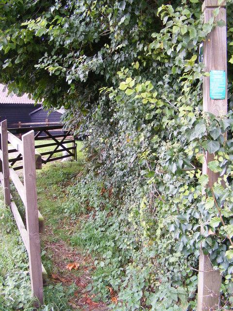 Footpath to Swan Lane & Brandeston Road