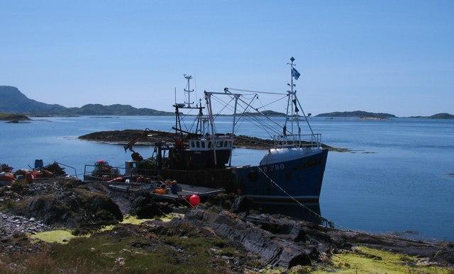 Fishing boat at Cullipool