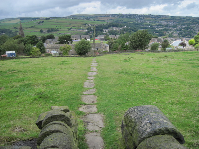 Footpath from Heath Road to Church Lane, Linthwaite