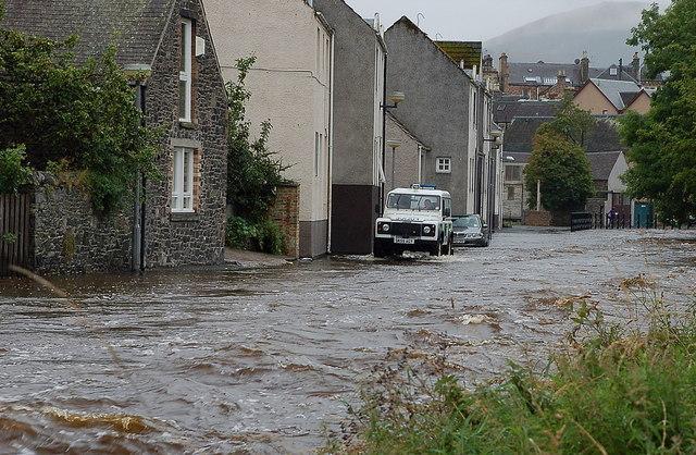 Flooding at Cuddyside, Peebles