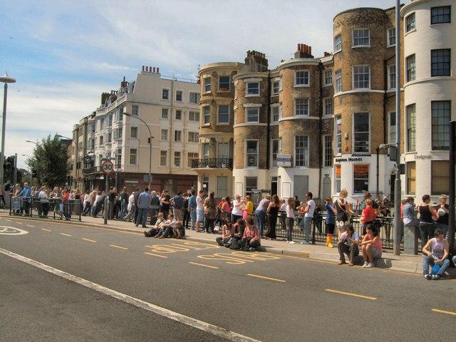Awaiting Brighton Pride Parade
