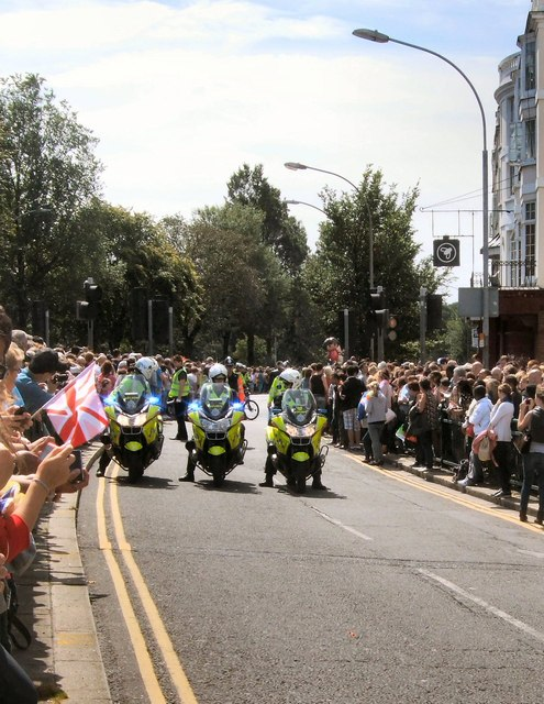 Police outriders, Brighton Pride Parade