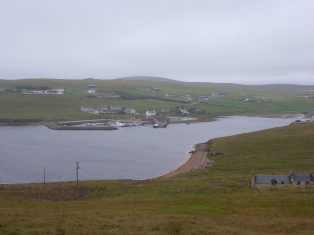 Easter Skeld: view across Skelda Voe