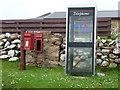 HU3044 : Easter Skeld: postbox № ZE2 1 and phone by Chris Downer