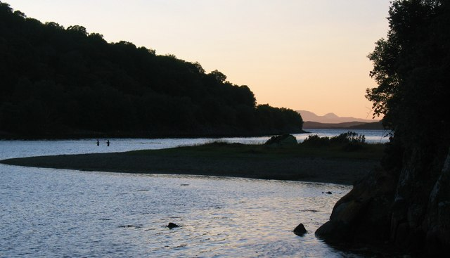 Evening fishing, Loch Crinan