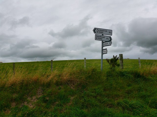 Direction Sign at Slewlan Hill