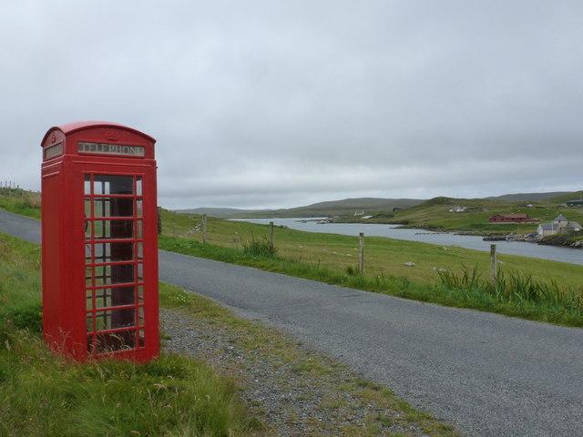 Burrastow: telephone box