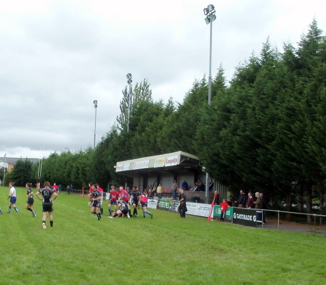 Floodlights and a small stand, Bridge Field, Bedwas