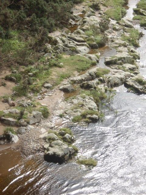 Left river bank below Bridge of Potarch