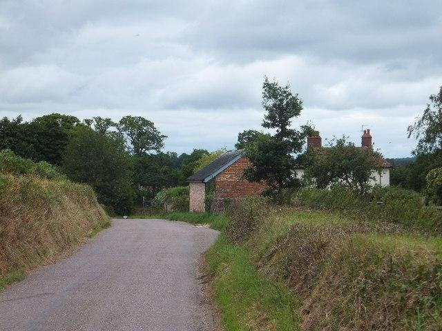 Cadhay Barton and Cadhay Lane