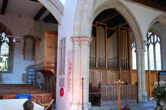 The Organ in St Dunstan's Cranbrook