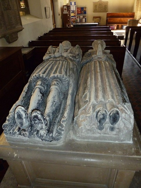 Whitchurch-All Hallows: reclining figures