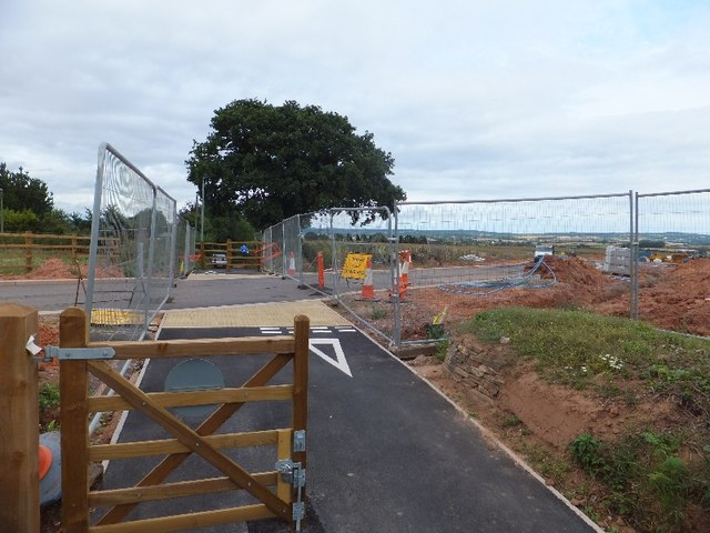 Construction of a road on Exeter Science Park