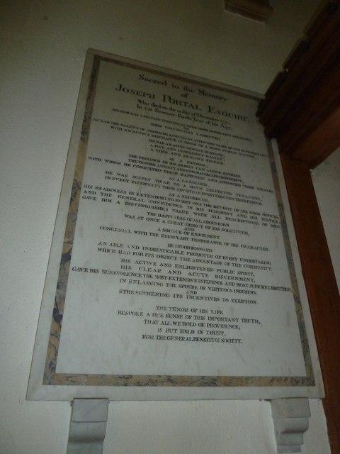 Whitchurch-All Hallows: wall memorial (b)