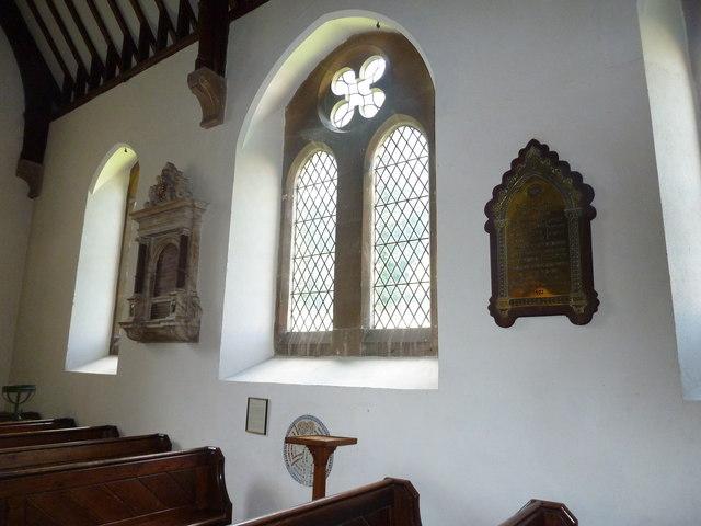 Whitchurch-All Hallows: wall memorials (c,d)