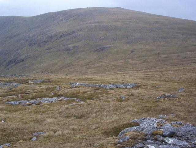 Beinn a' Bhric ridge looking to Leum Uilleim summit