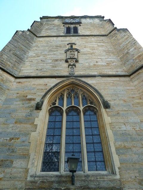 St. John the Baptist, Crawley: looking above the west door