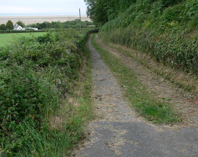 Lane towards Red Wharf Bay