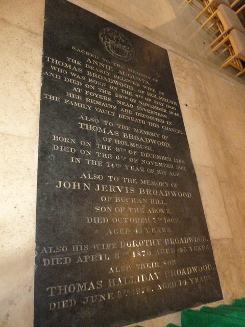 St. John the Baptist, Crawley: floor memorial