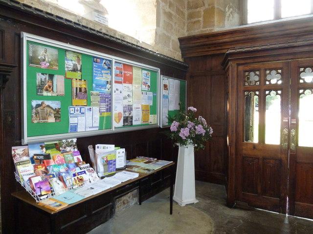 St. John the Baptist, Crawley: notice board