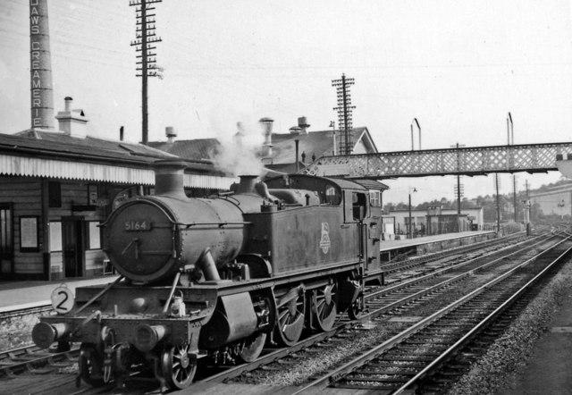 Totnes station, with 2-6-2T banker