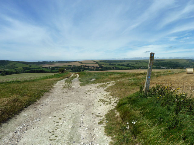 Bridleway junction above Litlington