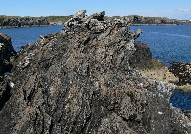 Rock formations at Graig Lwyd