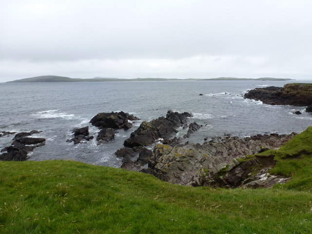Sandness: view over Papa Stour from Melby