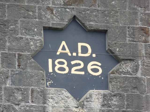 Datestone at Yr Eglwys Fethodistaidd Ebeneser, Caernarfon