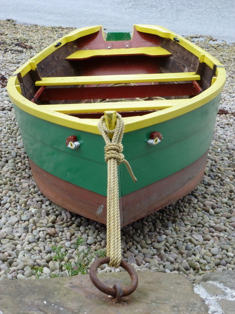 Lerwick: boat with face at Hay's Dock