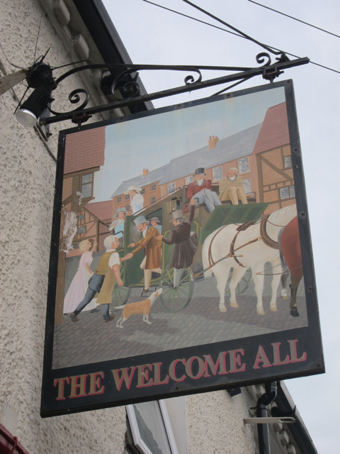 The Welcome All sign