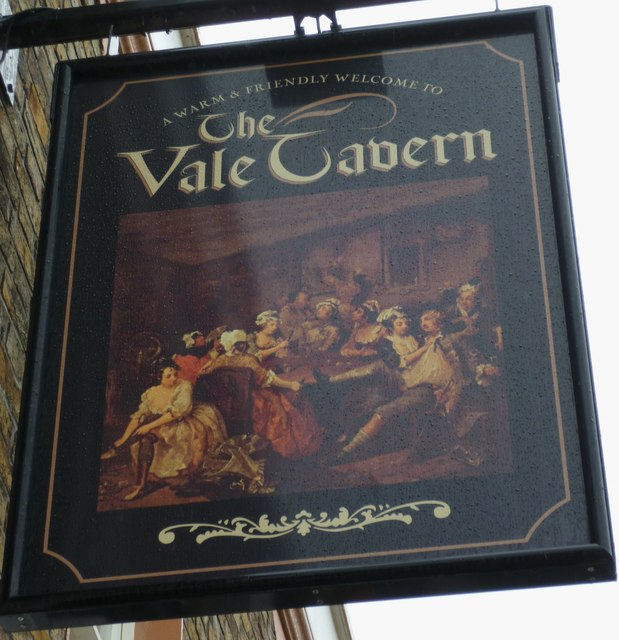 """""""The Vale Tavern"""" PH sign in Ramsgate"""