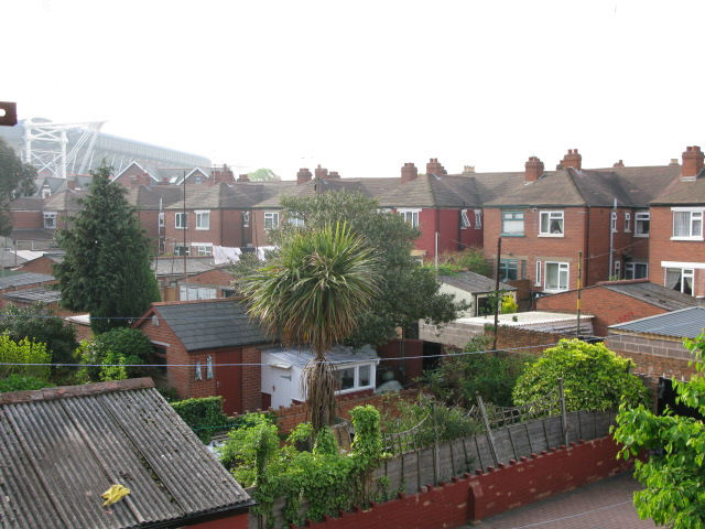 View of gardens and houses in Riverside