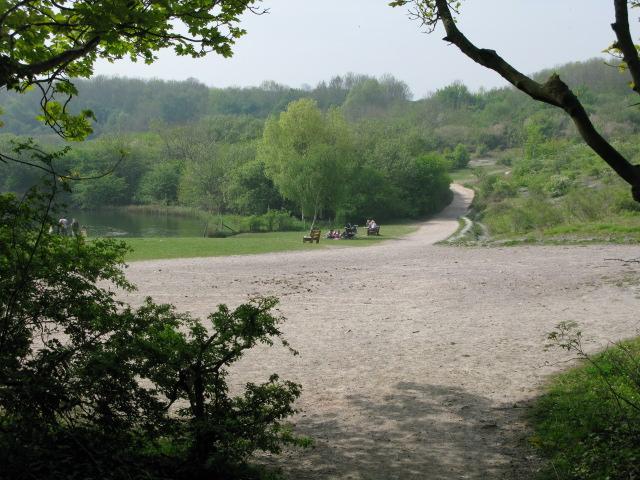 One of the many paths around Cosmeston Lake